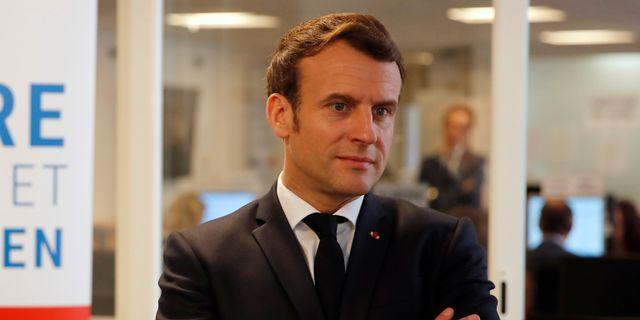Frankrikes president Emmanuel Macron. POOL / TT NYHETSBYRÅN