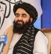 Amir Khan Muttaqi.  Muhammad Farooq / TT NYHETSBYRÅN