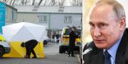 Polis i Salisbury/Vladimir Putin. TT