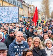 Åhörare vid Löfvens förstamaj-tal i Umeå. Sune Grabbe/TT / TT NYHETSBYRÅN