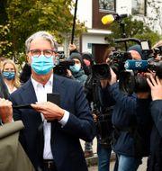 Arkivbild: Audis tidigare vd Rupert Stadler står också åtalad i VW-rättegången – hans förhandling har pågått i över ett år redan.  Matthias Schrader / TT NYHETSBYRÅN