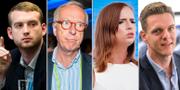 Jakop Dalunde, Gunnar Hökmark, Sara Skyttedal och Christofer Fjellner. TT
