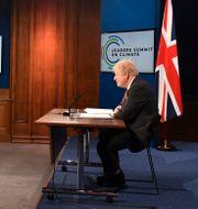 Narendra Modi och Boris Johnson i ett digitalt möte i slutet av april. Justin Tallis / TT NYHETSBYRÅN