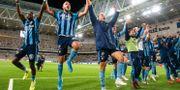 Djurgårdens Emir Kujovic firar segern mot Helsingborg. ANDREAS L ERIKSSON / BILDBYRÅN
