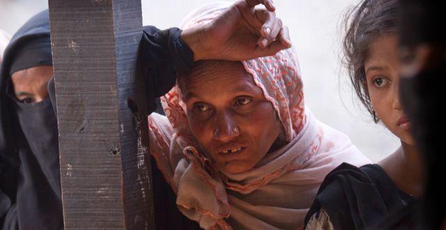 Flyktingläger i Myanmar. Manish Swarup / TT NYHETSBYRÅN
