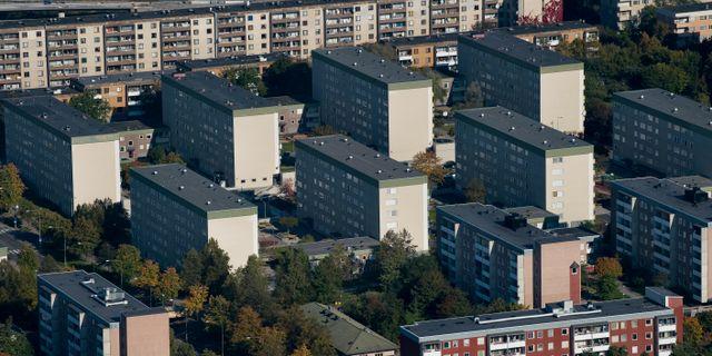 Arkivbild. Flygbild över hus i Tensta, 2011. JONAS EKSTRÖMER / SCANPIX / SCANPIX SWEDEN