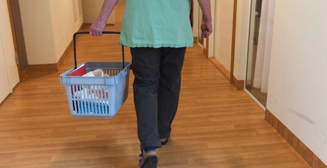 Personal på ett äldreboende Fredrik Sandberg/TT / TT NYHETSBYRÅN