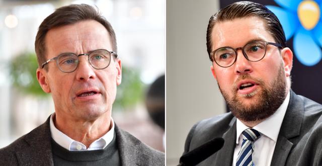 Ulf Kristersson och Jimmie Åkesson.  TT
