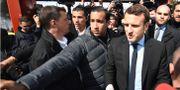 Den franska presidenten Emmanuel Macron och sin forne säkerhetschef Alexandre Benalla. Eric Feferberg / TT / NTB Scanpix