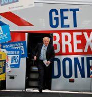 Boris Johnson under brexitkampanjen.  Frank Augstein / TT NYHETSBYRÅN