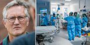 Anders Tegnell/IVA på Södertälje sjukhus. TT