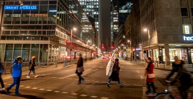 Bild från centrala Frankfurt Michael Probst / TT NYHETSBYRÅN