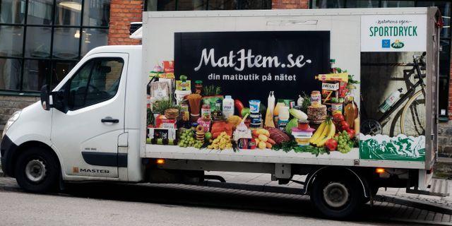 En av matkedjans Mathems budbilar. Hasse Holmberg / TT / TT NYHETSBYRÅN