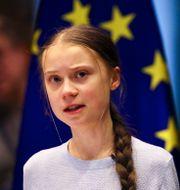 Greta Thunberg. Olivier Matthys / TT NYHETSBYRÅN