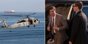 En helikopter i Hormuzsundet. TT