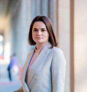 Svetlana Tikhanovskaya, oppositionsledare i Belarus. Christoph Soeder / TT NYHETSBYRÅN