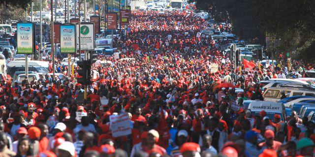 Demonstranter gripna i zimbabwe