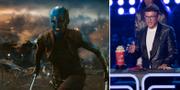 Karen Gillian från filmen Avengers: Endgame t.v. Filmens regissör Anthony Russo t.h. TT