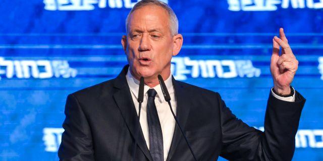 Det var ytterst jämnt mellan Netanyahus parti Likud och huvudmotståndaren Benny Gantz Blåvita alliansen. GALI TIBBON / AFP