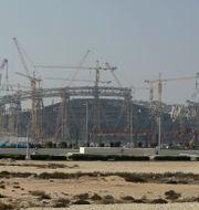 Arenabygge i Lusail i Qatar. Hassan Ammar / TT NYHETSBYRÅN