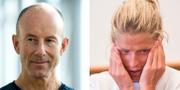 Ingemar Stenmark och Therese Johaug. TT