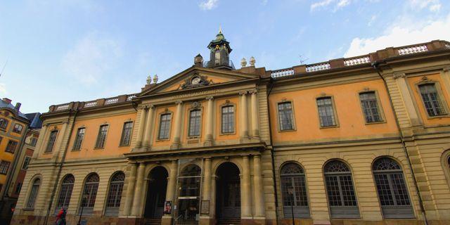 Svenska Akademiens lokaler i Börshuset.  HASSE HOLMBERG / TT NYHETSBYRÅN
