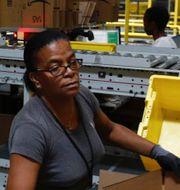 Arkivbilder. Amazon-anställd i Baltimore. TT
