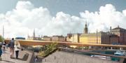 Illustration över guldbron. Stockholms stad