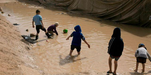 Barn till IS-anhängare i al-Hol-lägret i Syrien. Maya Alleruzzo / TT NYHETSBYRÅN/ NTB Scanpix