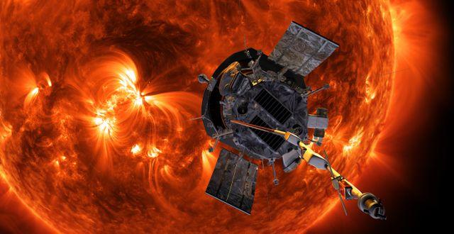 Bild från Nasa som illustrerar sondens framtida uppdrag. NASA/Johns Hopkins APL/Steve Gribben