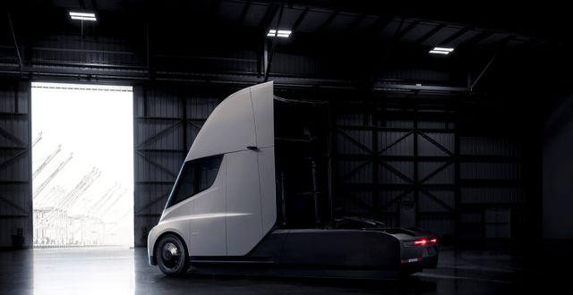 Teslas lastbild Semi lanserades i november ifjol.  HANDOUT / TT NYHETSBYRÅN