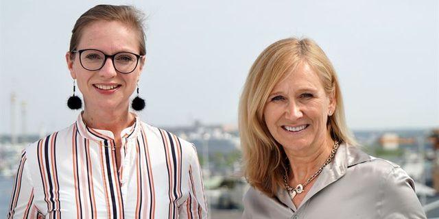 Carin Wegenius, tillförordnad vd Demoskop, och Karin Nelsson, partner på Inizio.