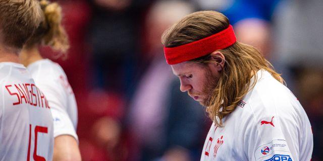 Mikkel Hanssen deppar. CHRISTOFFER BORG MATTISSON / BILDBYRÅN