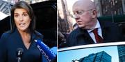 USA:s FN-ambassadör Nikki Haley/Rysslands FN-ambassadör Vassily Nebenzia TT