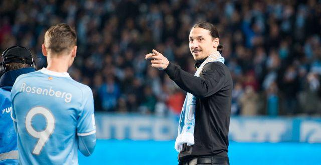 Markus Rosenberg och Zlartan Ibrahimovic. Arkivbild. Emil Langvad/TT / TT NYHETSBYRÅN