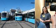 Spårvagnar i Göteborg och Anna Ekström.  TT